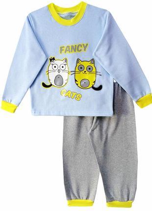 Детская утепленная пижамка на 6-7 лет