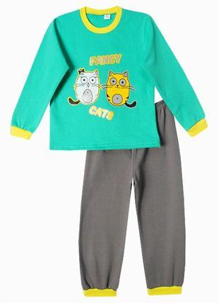 Детская утепленная пижама на 7-8 лет