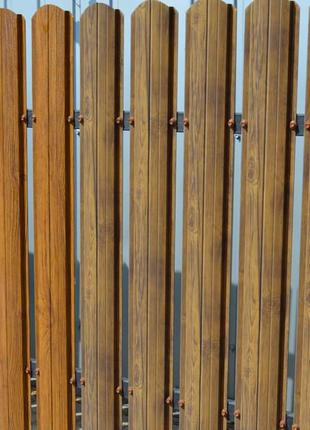 Штакетник штахетник евроштакетник деревянный двухсторонний забор