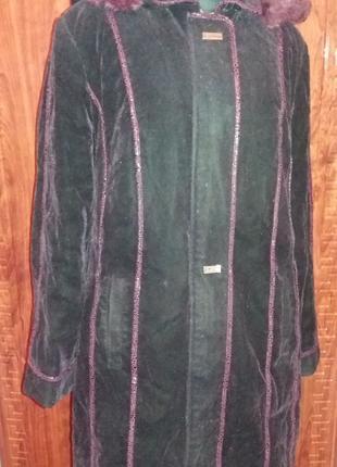 Женское зимнее полупальто курточка б.у. Размер 50-52