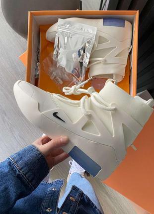 Nike air fear of god 1 sail black мужские кожаные кроссовки 😍