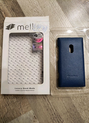 Чехол Melkco Leather Snap Cover Nokia Lumia 800-синий
