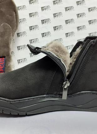Распродажа!зимние комфортные нубуковые ботинки на цигейке detta