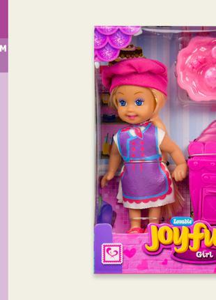 Кукла маленькая K899-85 (72шт/2) повар, набор пусдки, жуховой шка
