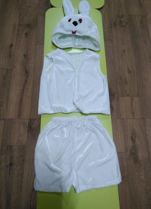 Новогодний костюм зайчика 150 грн, 2-4 года