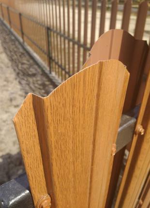 Штакетник штахет под деревянный двухсторонний штакет забор ворота