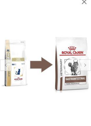Royal canin fibre лечебный сухой корм для котов пачка по 4кг