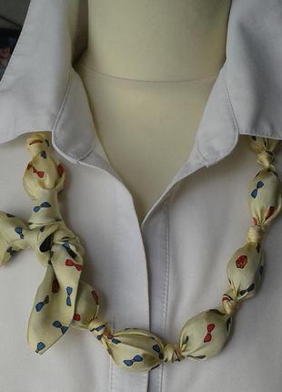 Бусы весёлые шелковые текстильные ручной работы хенд мейд