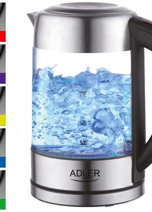 Электрочайник с регулятором температуры Adler AD 1247 1.7л 2200Вт