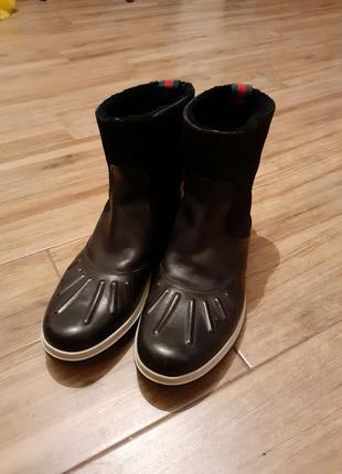 Gucci ботинки зимние 45-46