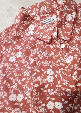 Брендовая рубашка цветы
