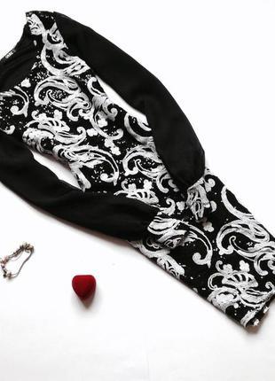 Вечернее черно-белое платье в пайетки quiz