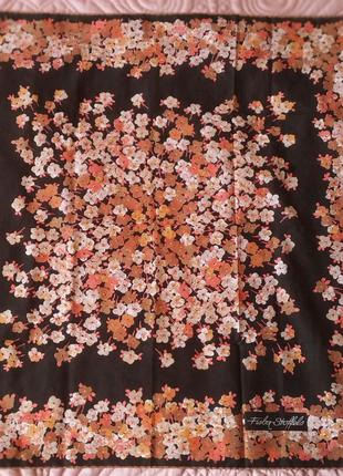 Винтажный платок швейцарского бренда Fisba Stoffels