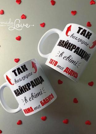 Подарок парные чашки родителям