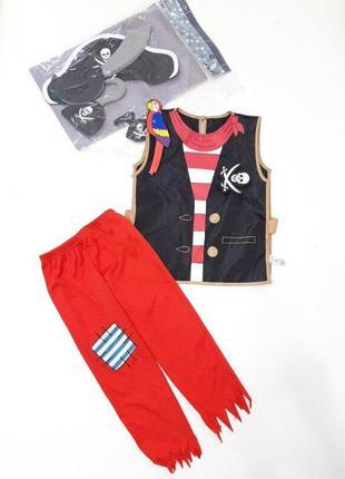 Пират костюм для мальчика р. 104-116 и 5 предметов