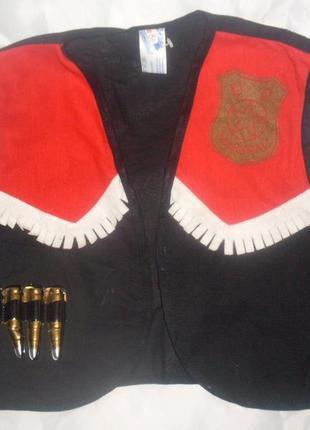 Жилет для костюма маршала шерифа ковбоя ростом 128-140 см