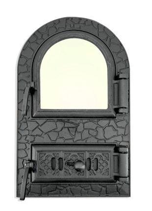 Дверца для печи со стеклом, чугунная печная дверка, дверь в пе...
