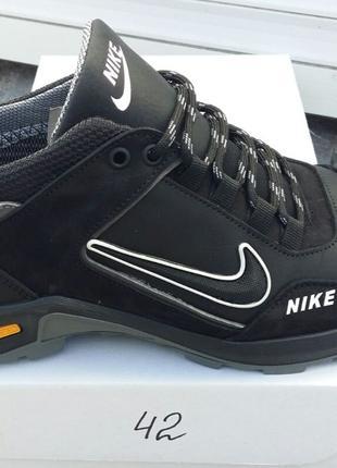 Ботинки/кроссовки натуральная кожа nike gore-tex
