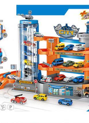 Детский игровой гараж парковка E 7003