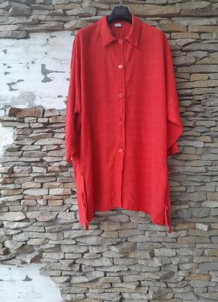 Стильная удлинённая рубашка, туника большого размера