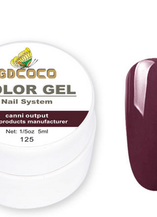 Гель-краска COCO 125 баклажан, 5г