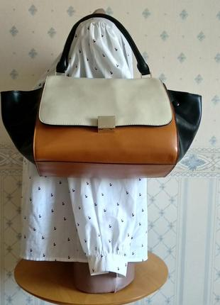 Винтажная сумочка celine trapeze  (номеров нету)