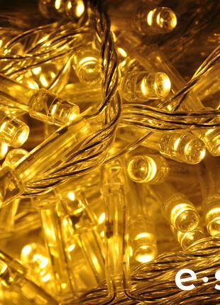 Гирлянда 500 LED теплый белый 28 м