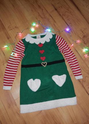 Новогодний костюм платье эльф
