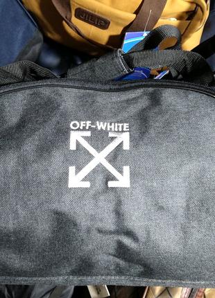Сумка спортивная Off-White 35*28*36 см серая