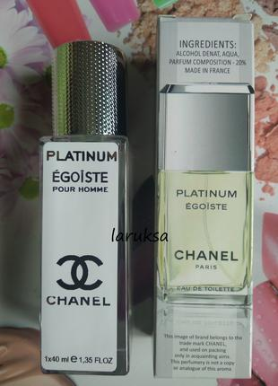 Мужская туалетная вода тестер chanel egoiste platinum (40 мл)