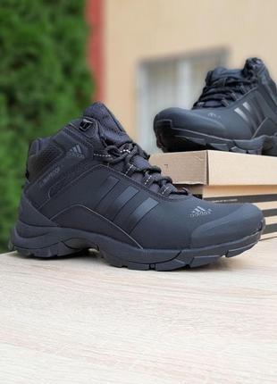 Кроссовки мужские зимние adidas climaproof высокие чёрные ❄️