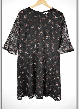 Красивое кружевное платье с принтом большого размера peacocks