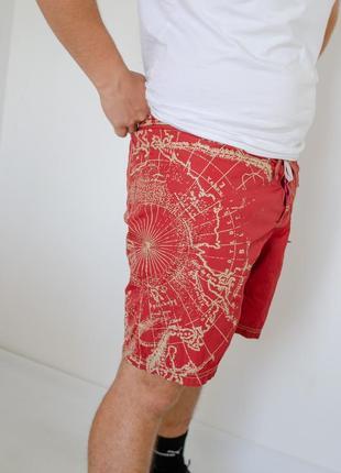 Napapijri красные пляжные плавательные шорты с большим логотип...