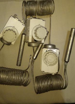 Терморегулятор Датчик-реле температуры ТАМ-113-4 с баллоном. СССР