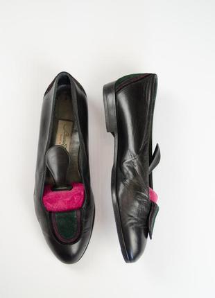 Bruno cacchetto черные кожаные туфли с перфорацией 38 (24,1 см...