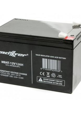 Аккумуляторная батарея AGM Maxxter 12V 12AH