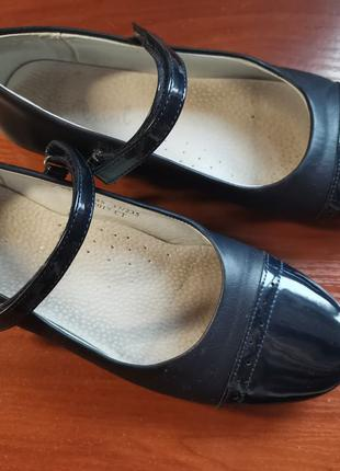 Туфли темно-синие 37 р