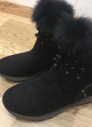 Модні, молодіжні жіночі черевики виконані з якісного замша