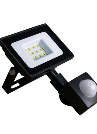 Светодиодный Прожектор 10 вт,датчиком движения,фонарь,лед,лампа