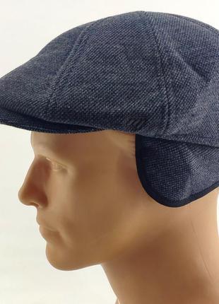 Мужская кепка хулиганка с флисом и ушками зимняя мужские