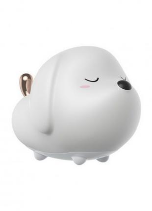 Ночник Baseus Cute Series Doggie Silicone Night Light White (DGAM