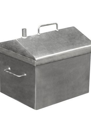 Коптильня горячего копчения с крышкой домиком сталь до 5 кг