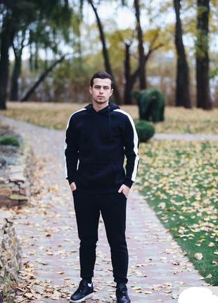 Теплый спортивный костюм с начесом худи и джоггеры украина
