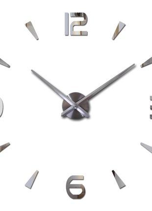 Большие настенные зеркальные 3D часы / 3д часы / 3д годинник, d=1