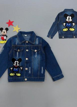 Джинсовый пиджак Mickey Mouse для мальчика.