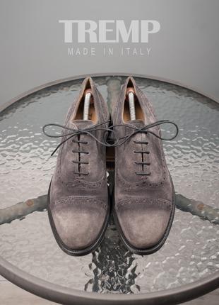 Оксфорды Tremp, Италия 42,5-43 мужские туфли кожа замш инспектоы