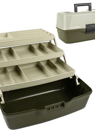 Ящик для снастей Aquatech 3 полки 36*21,5*19,5см
