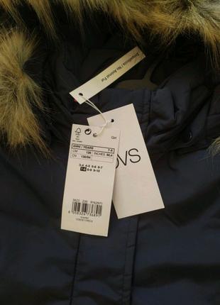Детская удлиненная куртка парка на девочку от OVS
