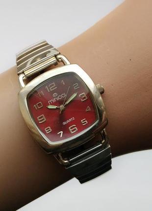 Minicci часы из сша стальной браслет с технологией растяжения