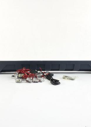 Накладка переднего бампера с ДХО AMG mercedes G-Class w463 губ...